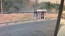 Tem Otoyolu Levent Yol Ayrımında Minibüsün Takla Attığı Kaza Anı Güvenlik Kameralarına Yansıdı