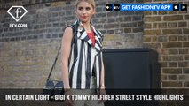 In Certain Light Gigi x Tommy Hilfiger Street Style London Fashion Week S/S 2018 | FashionTV | FTV