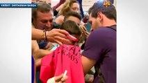 Un enfant fond en larmes devant Lionel Messi !