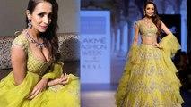 Lakme Fashion Week 2018  Malaika Arora Khan looks marvellous in a Lime Green Lehenga ,  Boldsky