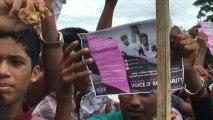 """Rohinyás protestan por """"justicia"""" y regreso con derechos a Birmania"""
