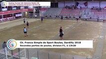Secondes parties de poules F1, France Simple, Dardilly 2018