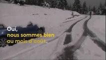 Des chutes de neige exceptionnelles recouvrent les Alpes italiennes
