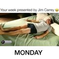 Your Week by Jim Carrey Monday Tuesday Wednesday Thursday Friday Saturday Sunday  Jim Carrey