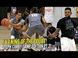 1 v 1 King of The Court STEPH CURRY CAMP Pt 2!! Cole Anthony & Kent Bazemore SNAP!!