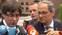 """Puigdemont dice que los partidos constitucionalistas están """"flirteando"""" con la violencia"""
