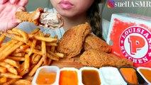 -CRUNCHY- ASMR POPEYES Fried Chicken & Cajun Fries 먹방 Eating Sounds