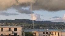 Watch: Waterspout spotted on Lake Zurich, Switzerland