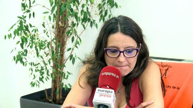 """Oltra: """"Aún no he oído a Torra nada sobre los problemas reales de Cataluña, es el día de la marmota"""""""