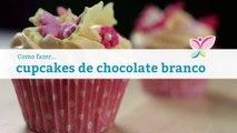 Como fazer cupcakes de chocolate branco
