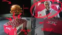 Pub KFC  le Colonel Sanders interprété par la Montagne de Game of Thrones