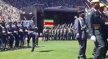 Zimbabwe Defence Forces Parade at the National Sports Stadium during the inauguration of Emmerson Mnangagwa as president of Zimbabwe. #voazimvotes