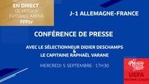 Mercredi 5, Équipe de France : la conférence de Varane et Deschamps en direct (17h30)