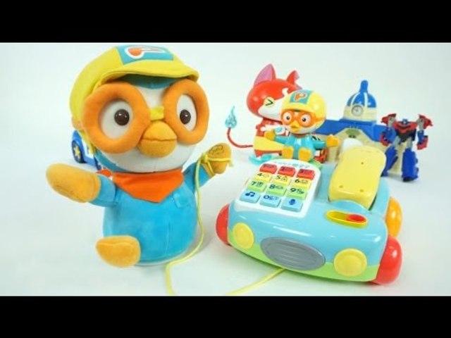 뽀로로 말하는 전화기 장난감 노래친구 인형 걸음마 전화놀이 Pororo Talking Telephone Toys игрушка CarrieAndToys