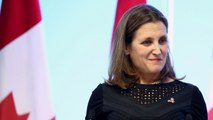 Canada's Foreign Minister Chrystia Freeland Says NAFTA Talks Are 'Intense'