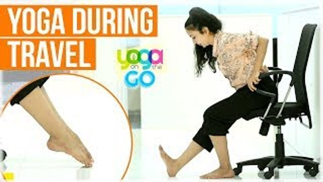 Yoga For Travel | Yoga For Long Trips | Yoga During Travel | Travel Yoga Video | Yoga On The Go