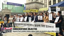 Supreme Court considers cases of conscientious objectors