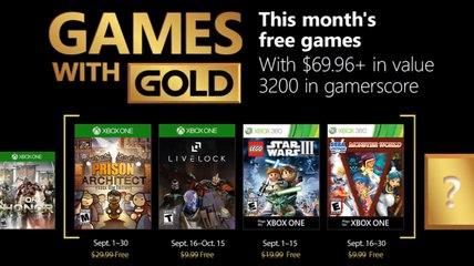 Trailer - Games With Gold - Les jeux de Septembre 2018 en vidéo