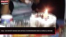 Chili : Un enfant mange son gâteau d'anniversaire, mais oublie la bougie ! (Vidéo)