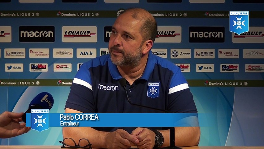 Conférence de presse de Pablo Correa avant AJA - SB29