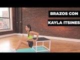 Kayla Itsines te enseña a tonificar tus brazos sin pesas