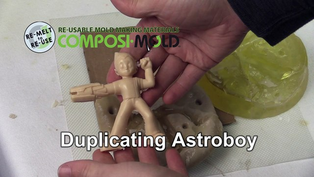 Make Your Own Astroboy  Action Figure Mold making 2 part figurine mold ImPRESSive Putty and ComposiMold