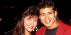 Mario Lopez & Tiffani Thiessen Have Mini 'Saved By The Bell' Reunion