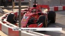 Grand Prix d'Italie - Vettel déjà dans le mur