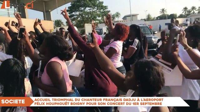Accueil de Dadju à L'aéroport Félix houphouet Boigny
