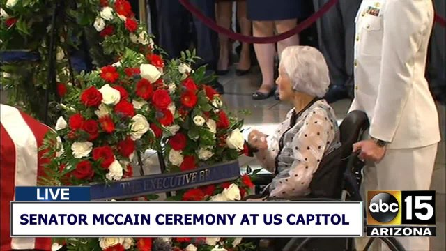 Meghan McCain and Roberta McCain at Washington ceremony