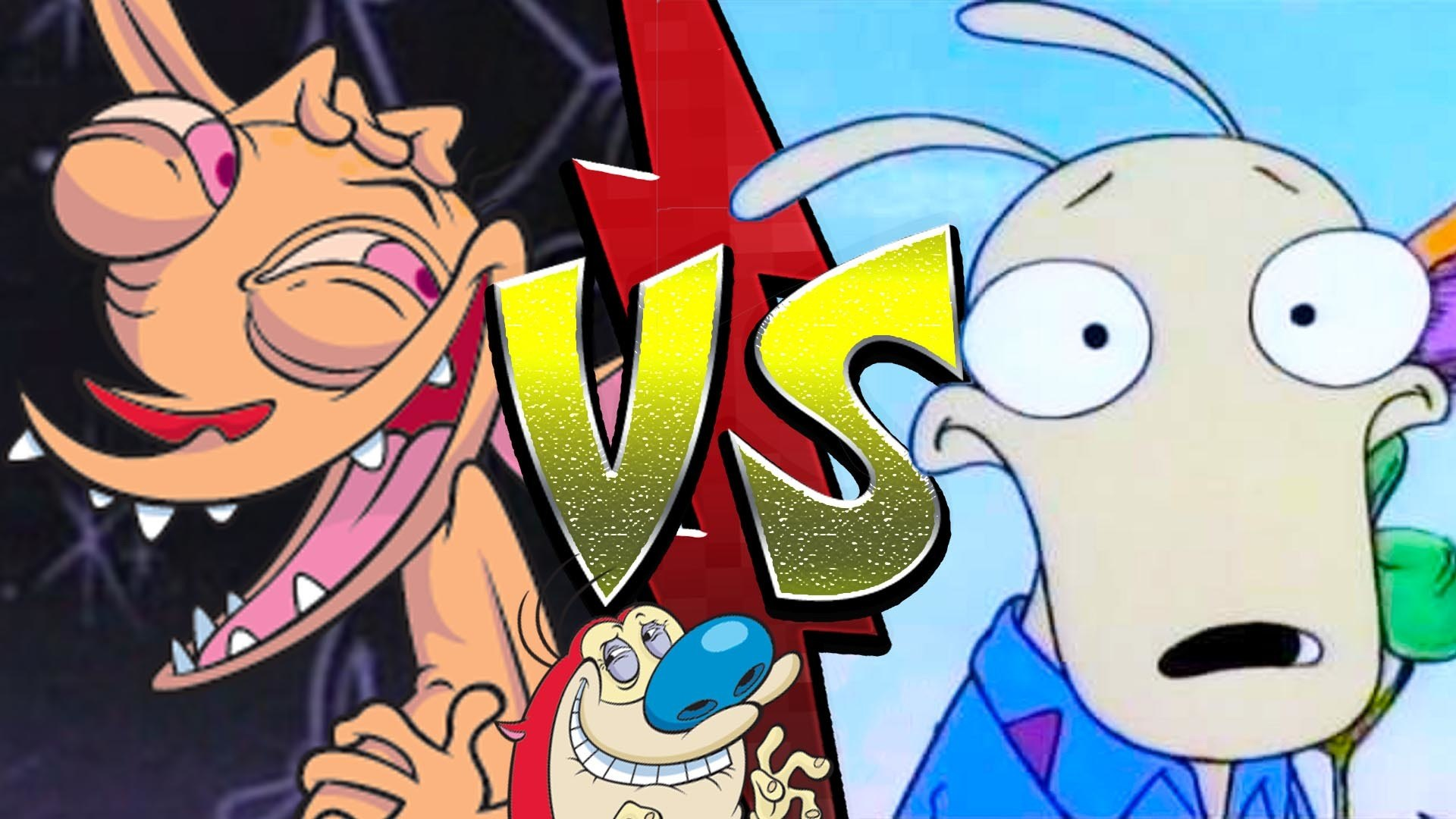 'Ren and Stimpy' vs. 'Rocko's Modern Life' | Nerdfight