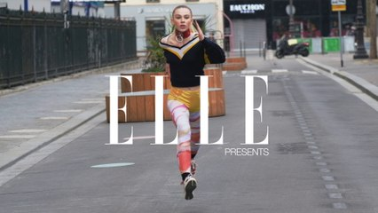 Alexis Kapaun in Athleisure for ELLE
