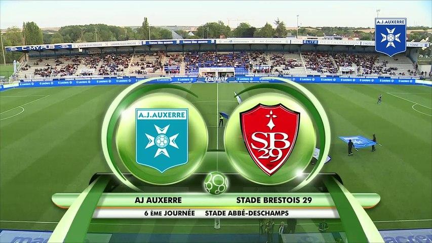 Résumé de AJ Auxerre - Stade Brestois  (0-2)