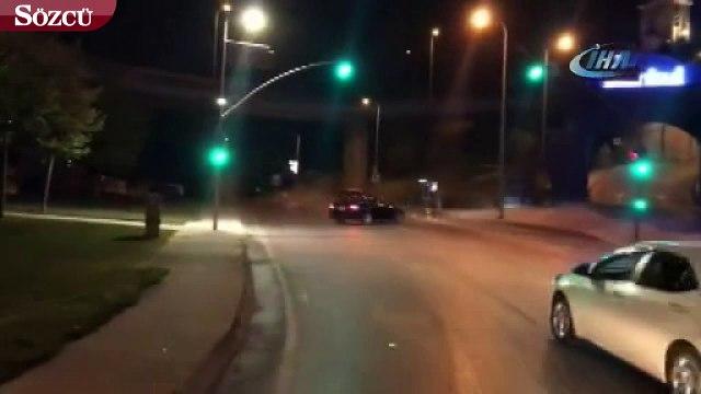 İstanbul'da 'makas' ve 'drift' terörü kamerada