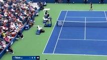 Tennis - Dominic Thiem s'est littéralement acharné sur sa raquette à l'US Open