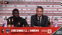 Stade Rennais F.C. : Conférence de presse_01 Septembre 2018