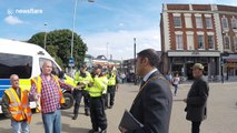 EDL members face off against Worcester mayor
