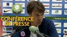 Conférence de presse Châteauroux - AS Nancy Lorraine (1-0) : Jean-Luc VASSEUR (LBC) - Didier THOLOT (ASNL) - 2018/2019