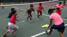 Kids!  Every Saturday morning at Long Island tennis court. $2 bucks buys you a lot of fun!