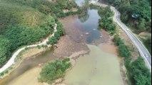 Heyelan ile Oluşan Sera Gölü Sel Kurbanı Oldu