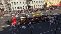 Russian rock group Leningrad stages gig on moving truck