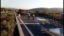 Τροχαίο με νταλίκα στην εθνική οδό στο ύψος του Καστρου