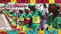 Denis Sassou N'Guesso, le candidat à la présidentielle 2016, a été reçu par une foule enthousiaste qui lui a promis un vote massif le 20 mars à Oyo, Ollombo, Le