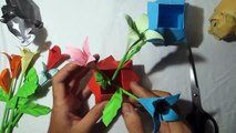 DIY pots | how to make a origami pots flower tutorial | comment faire un tutoriel de fleurs en pots d'origami