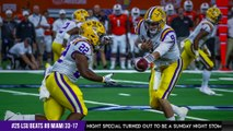 #8 Miami vs #25 LSU Recap | RB Nick Brossette 22 carries, 125 yards, 2 tds