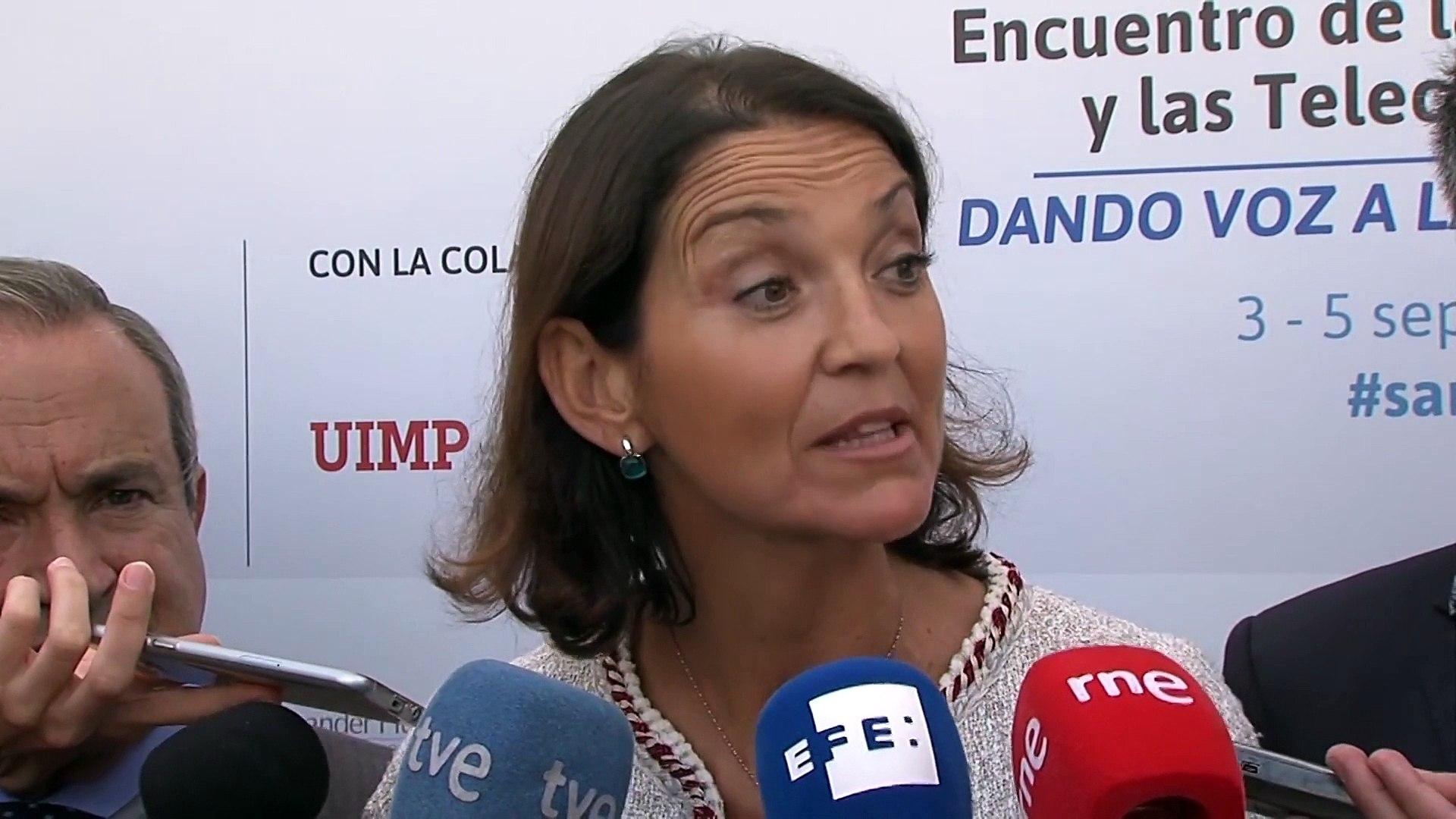 Declaraciones de la ministra de Industria, Comercio y Turismo, Reyes Maroto