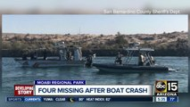 Four people missing after boat crash on Colorado River