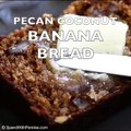 Pecan Coconut Banana Bread! The streusel topping makes this bread extra amazing!Print or Pin: