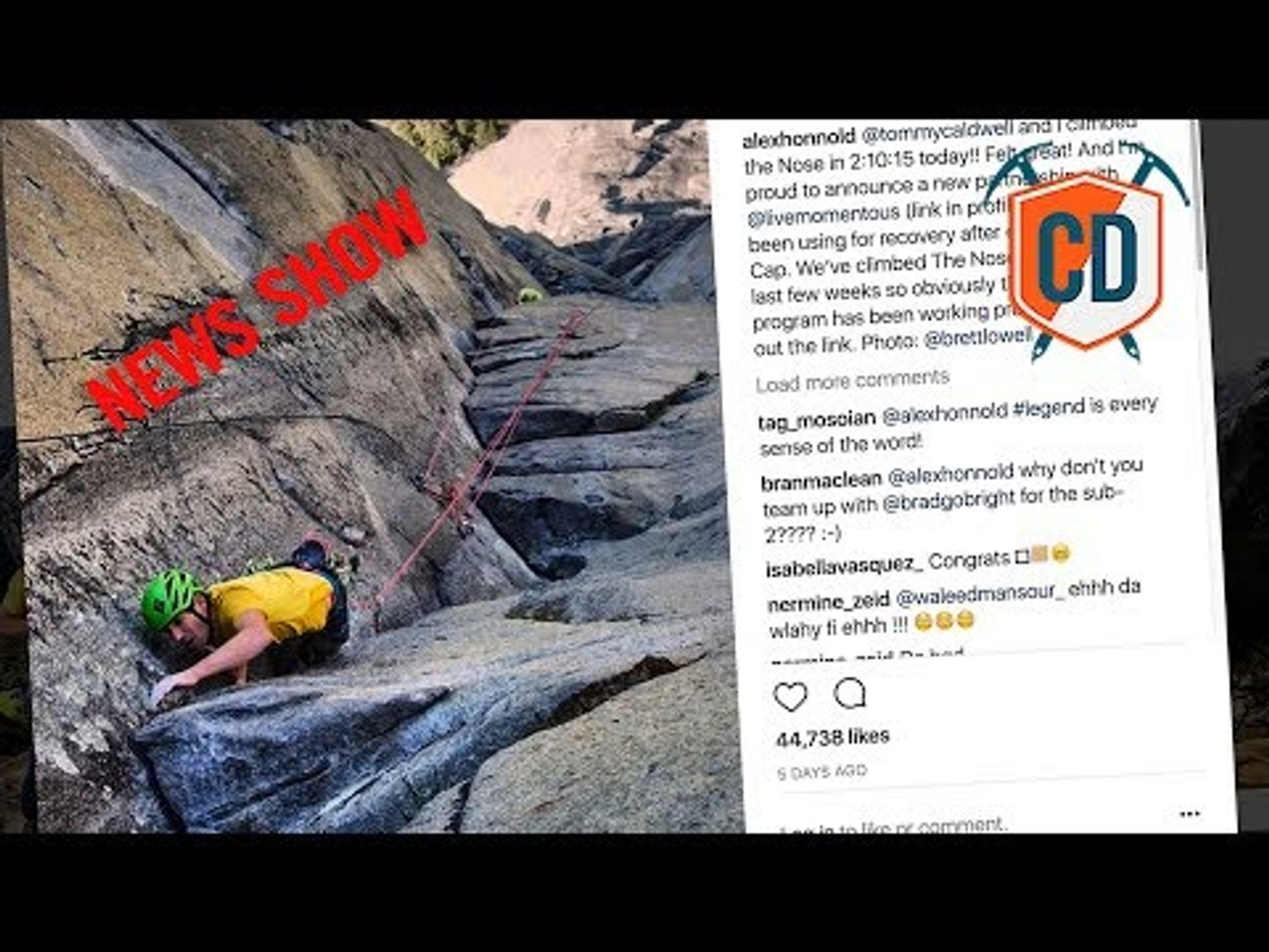Will Alex Honnold And Tommy Caldwell Get Sub 2hr El Cap Time?   Climbing Daily Ep.1183