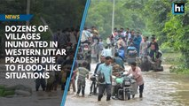 Dozens of villages inundated in western Uttar Pradesh due to flood-like situations